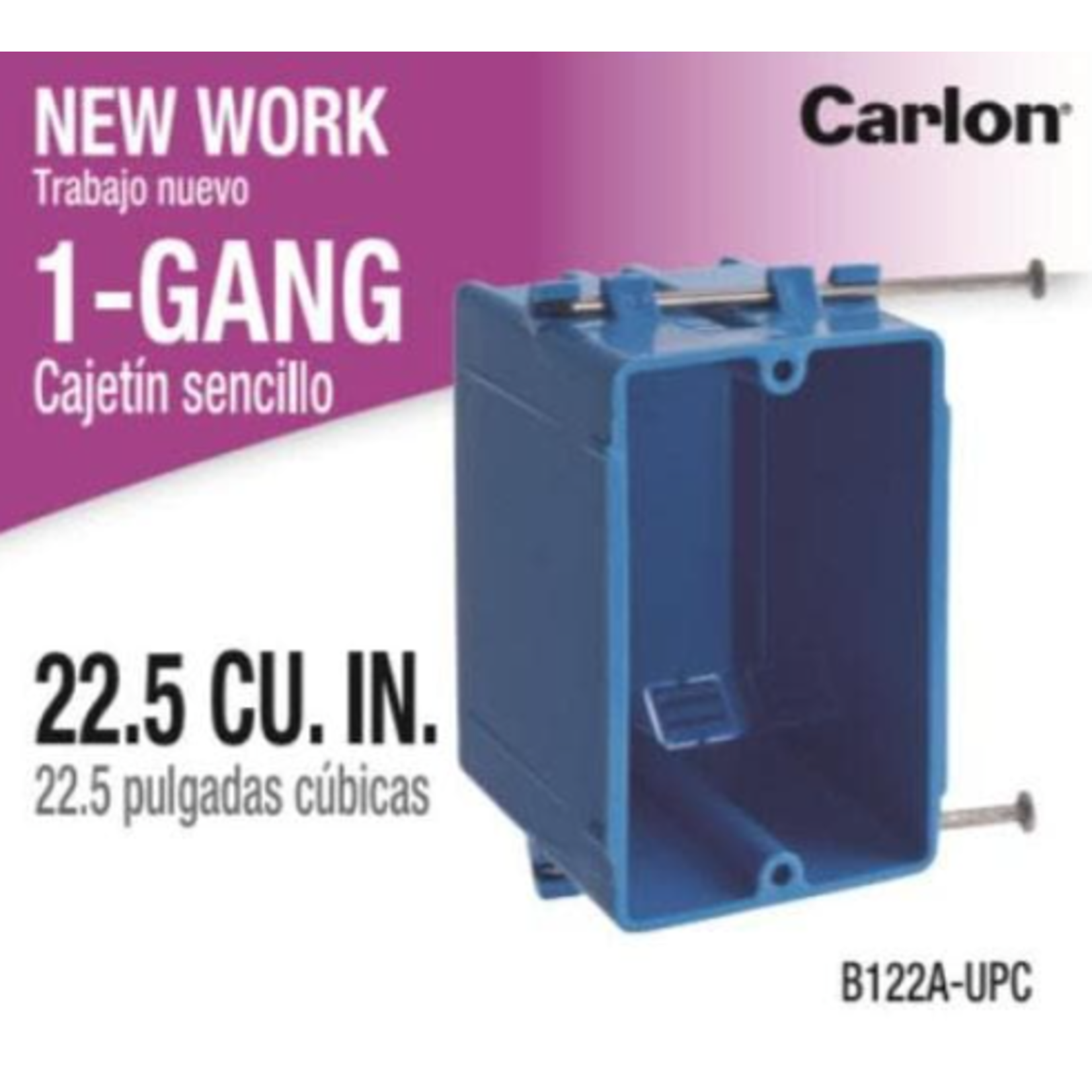 10358 1-Gang 22.cu PVC Electrical Outlet Box (Case of 100)