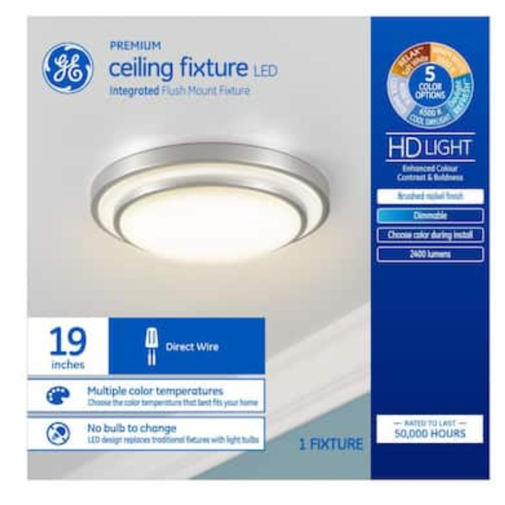 10377 GE LED Flush Mount Light