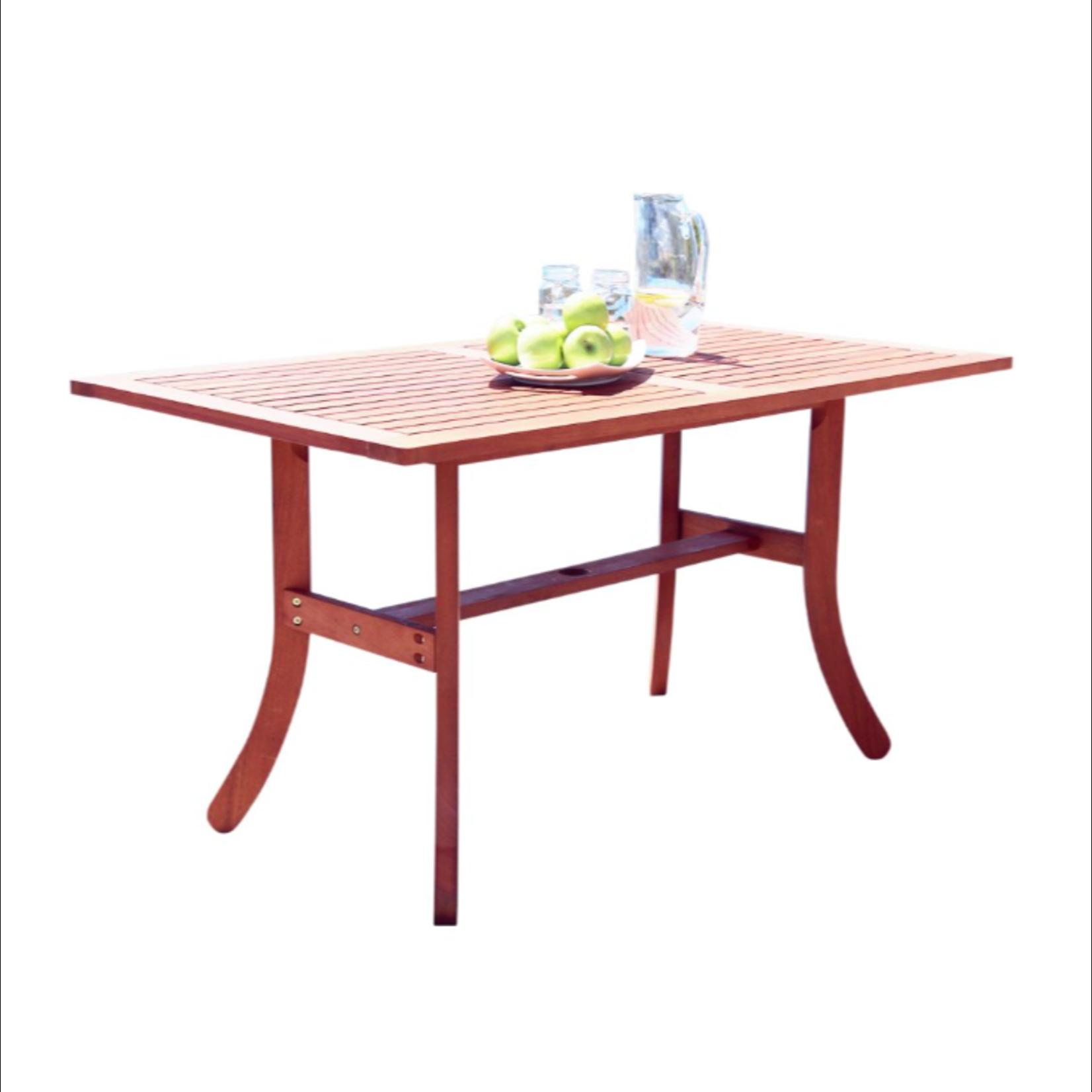 10421 Vifah Outdoor Dining Table Patio Set