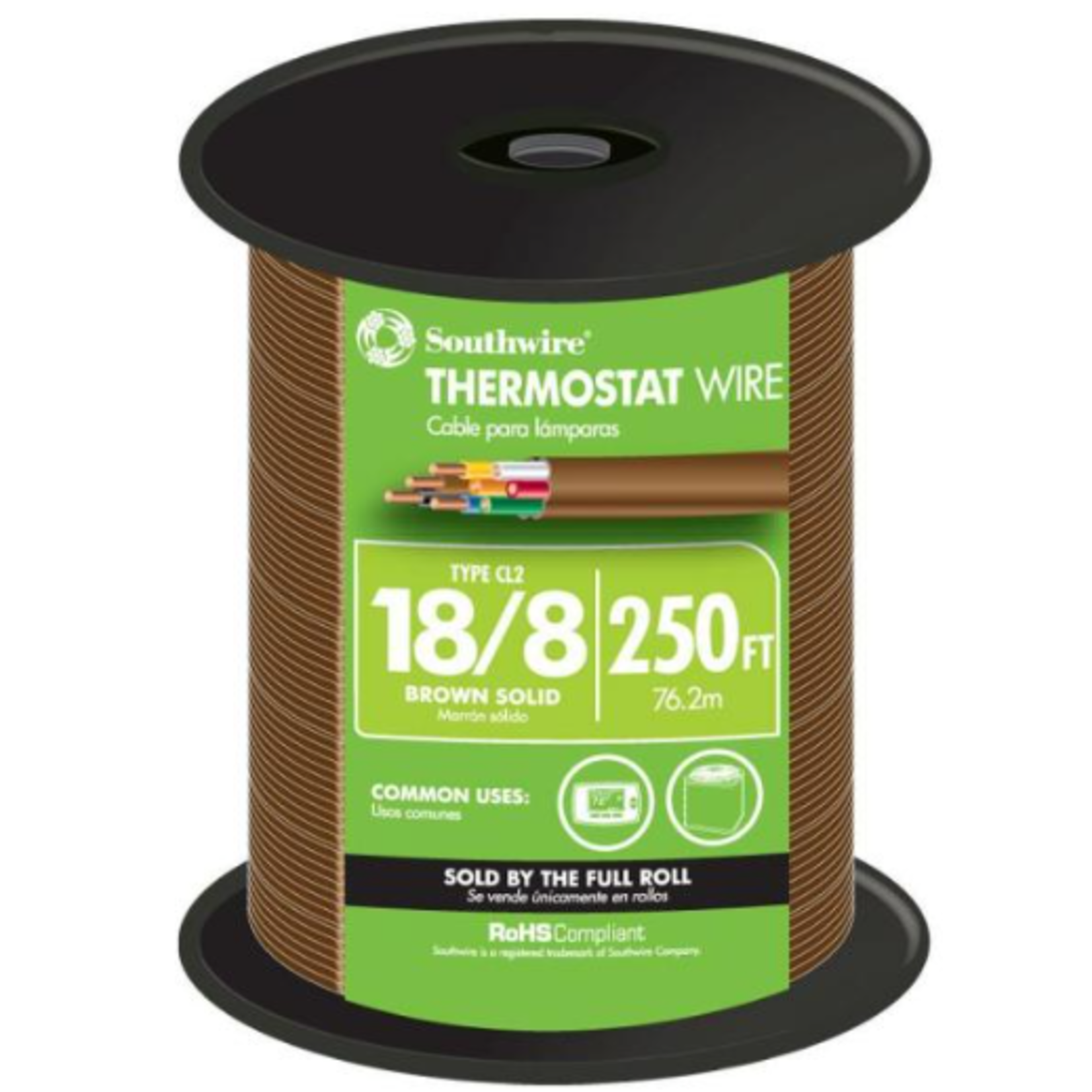 10428 Southwire 250-ft 18/8 CU CL2 Thermostat Wire