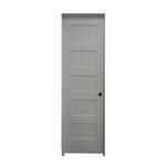 10435 White Primed Pre-Hung 5-Panel Interior Door