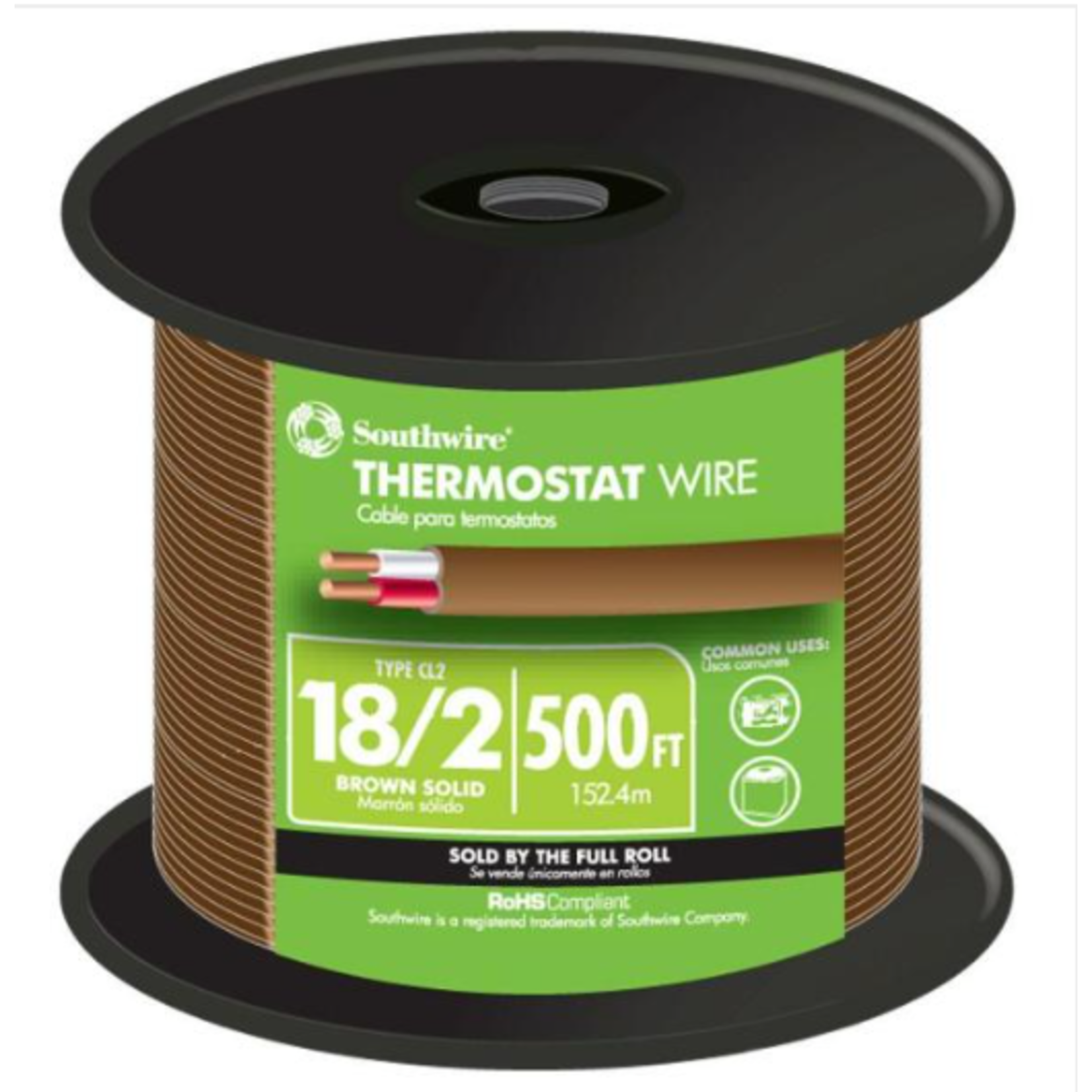 10443 Southwire 500ft. 18/2 CU CLM Thermostat Wire