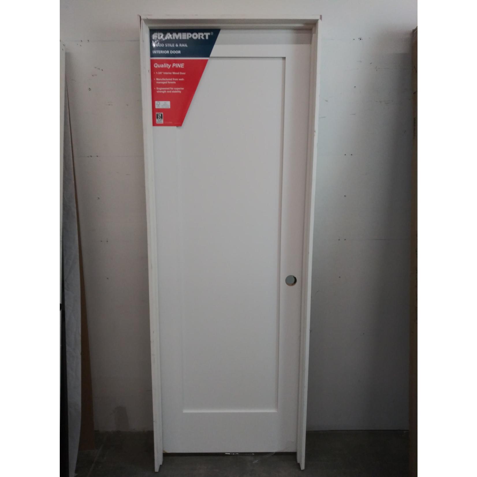 10451 Frameport White Primed Single Panel Pre-Hung Interior Door