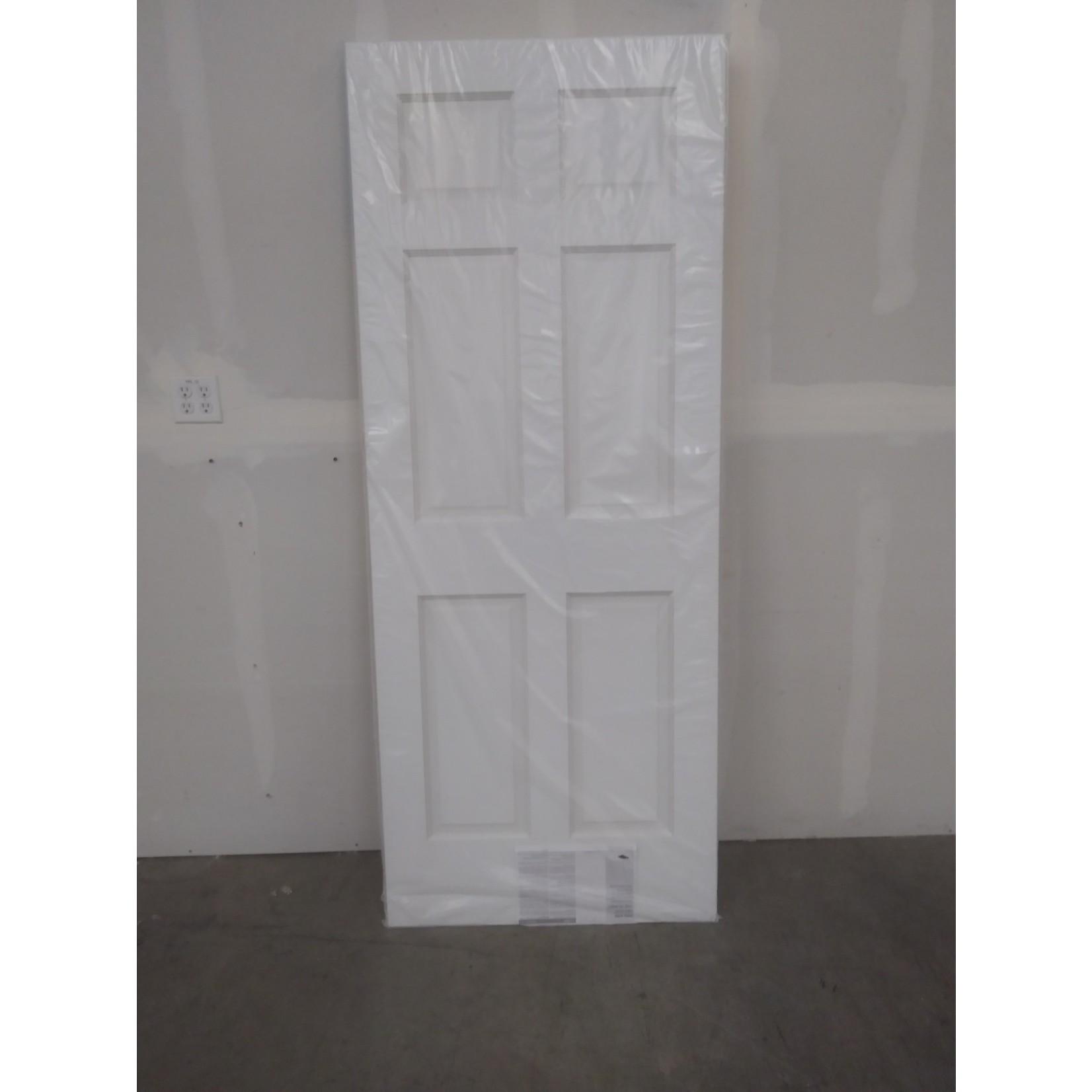 10454 White Primed 6-Panel Interior Door Slab