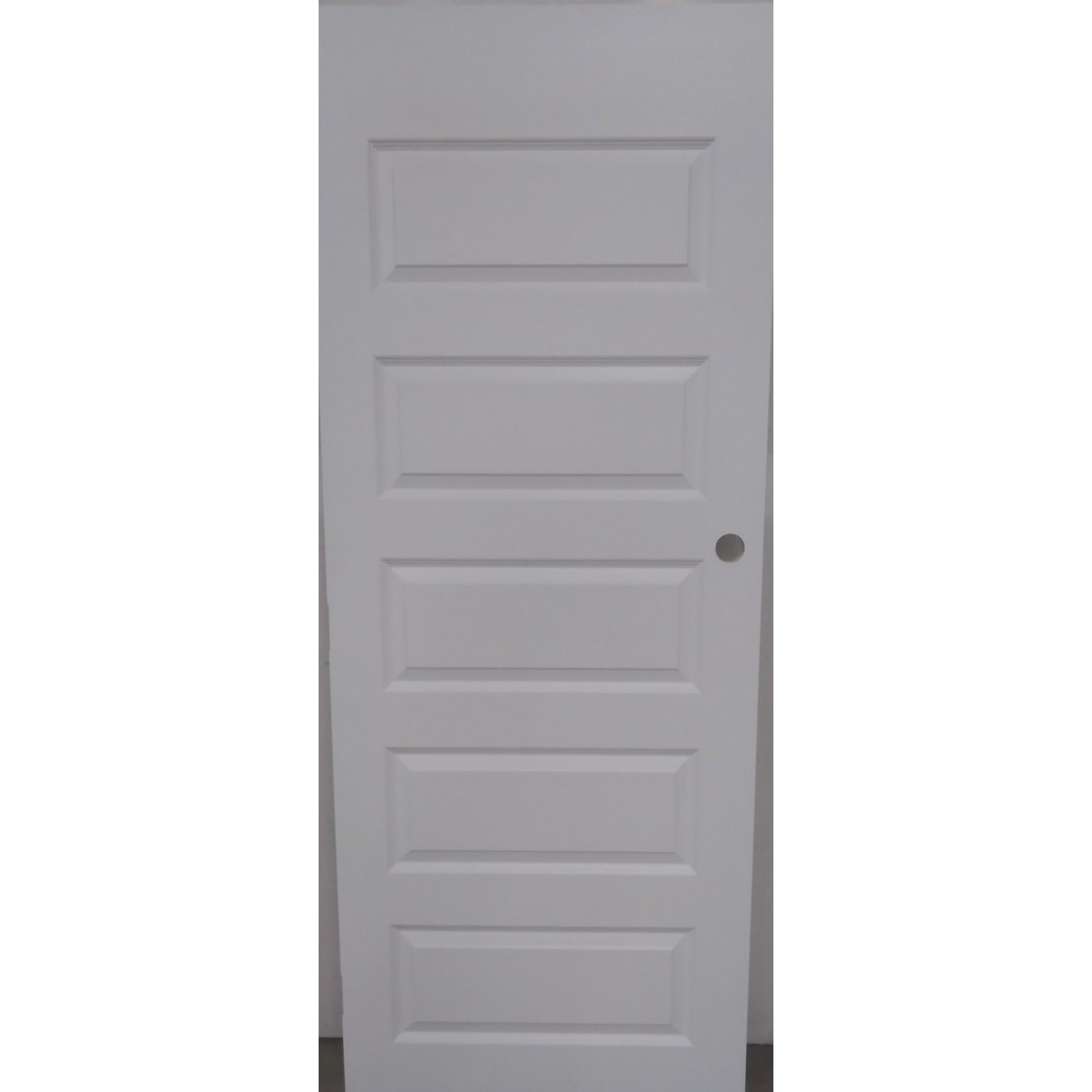 10464 White 5-Panel Interior Door