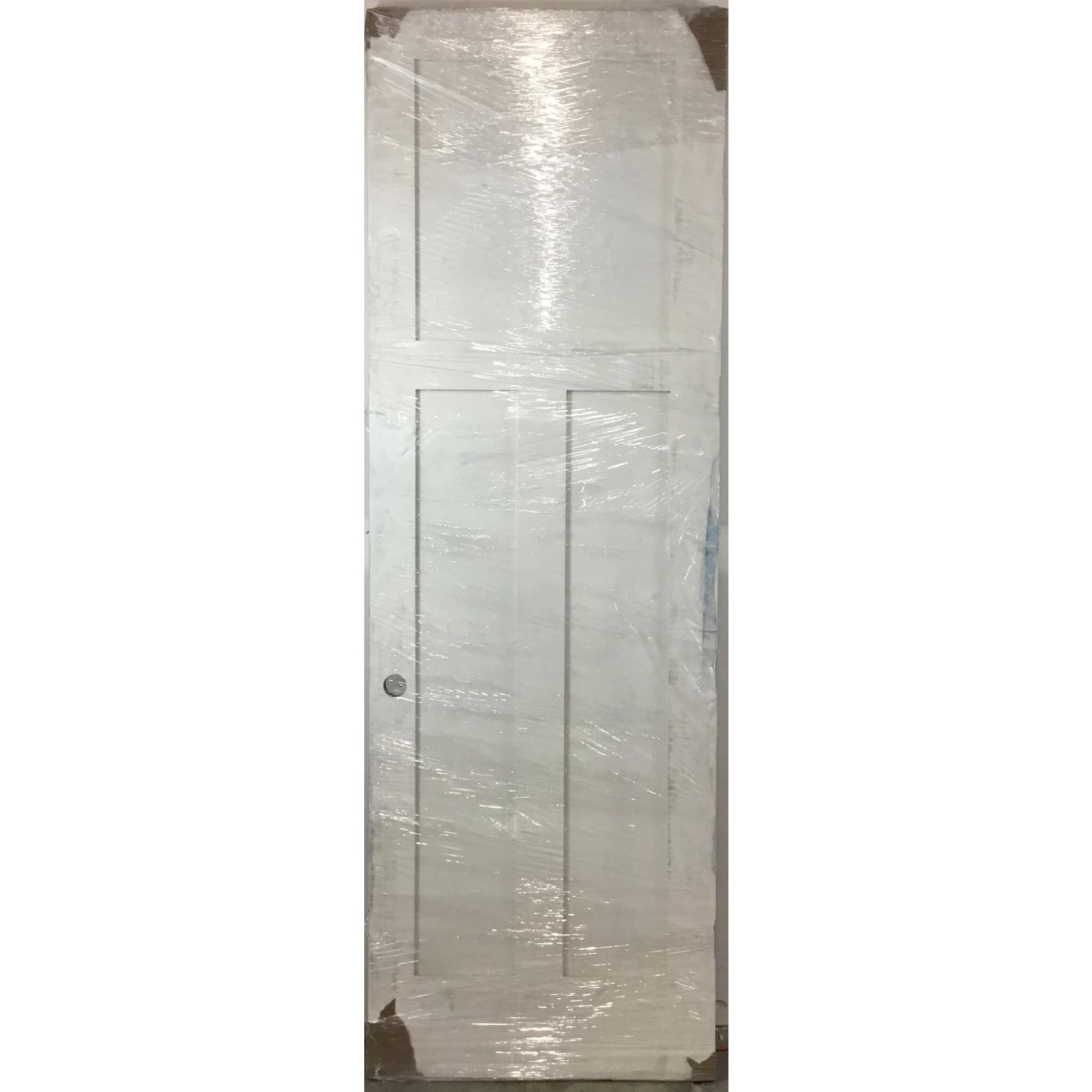 10467 White 3-Panel Interior Door