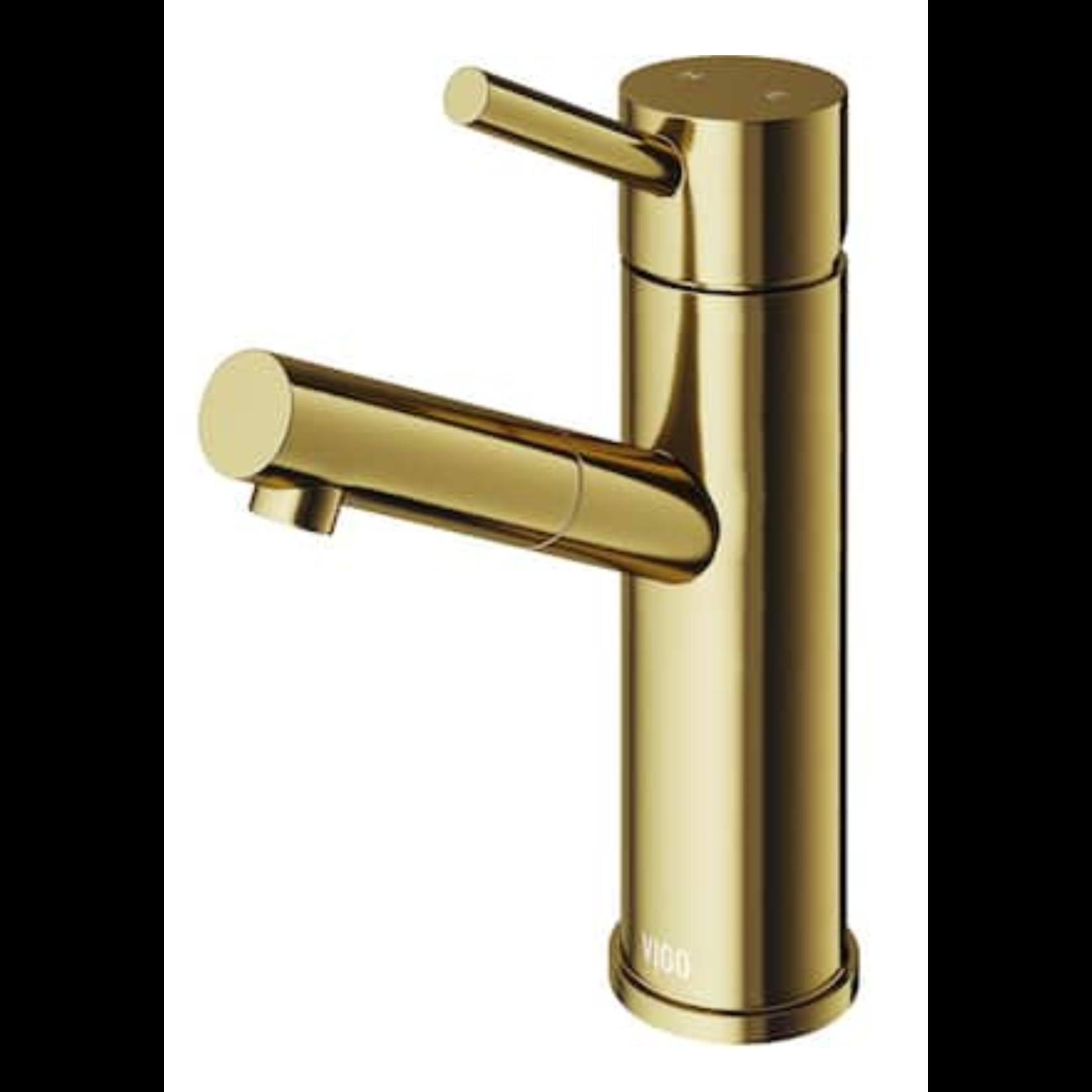 10506 VIGO Nomas Matte Gold 1-Handle Single Hole Bathroom Sink Faucet