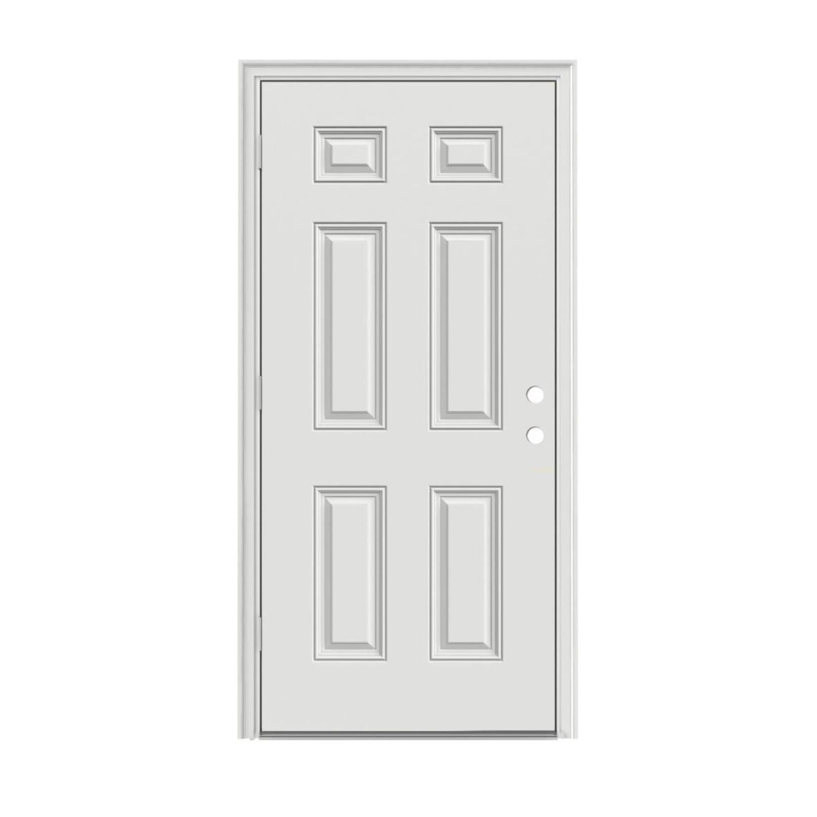 10544 6-Panel Prehung Exterior Door