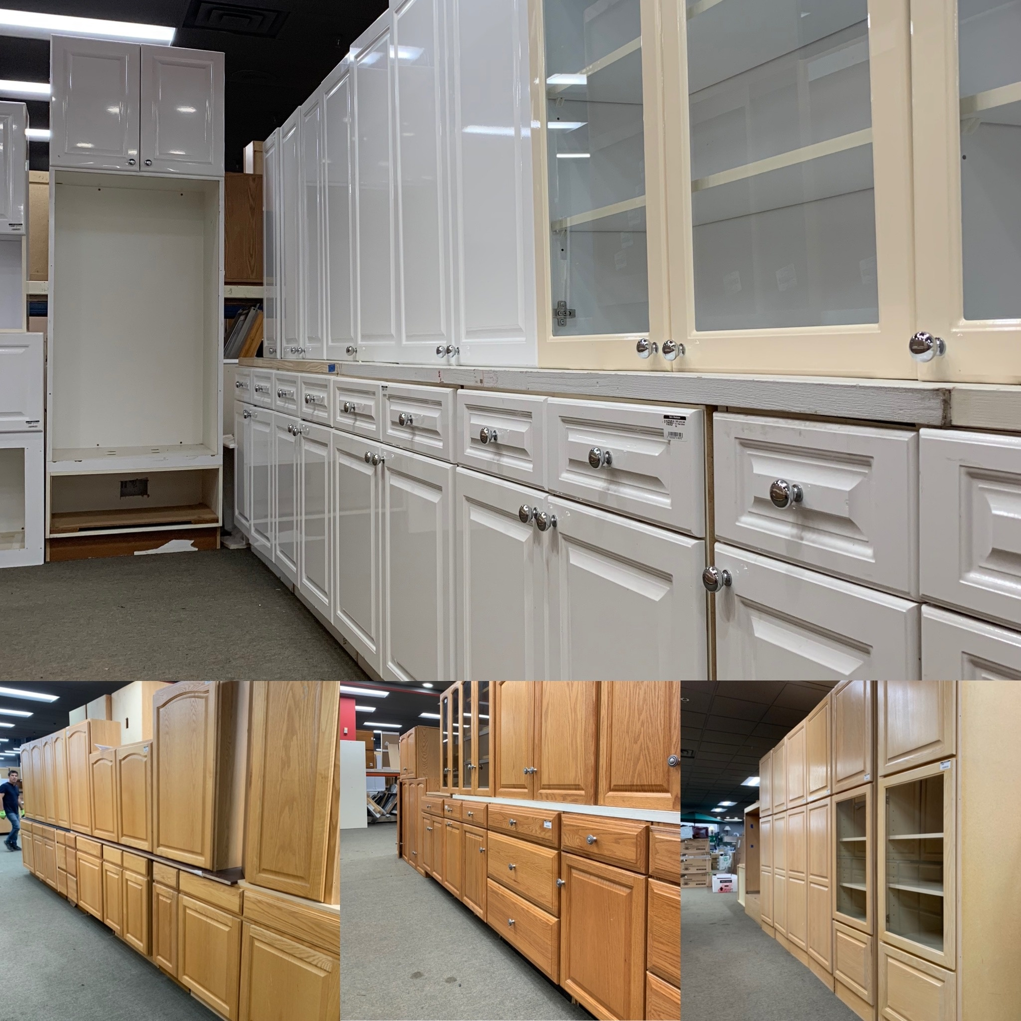 It's Raining Lightly Used Cabinet Sets at Bud's!