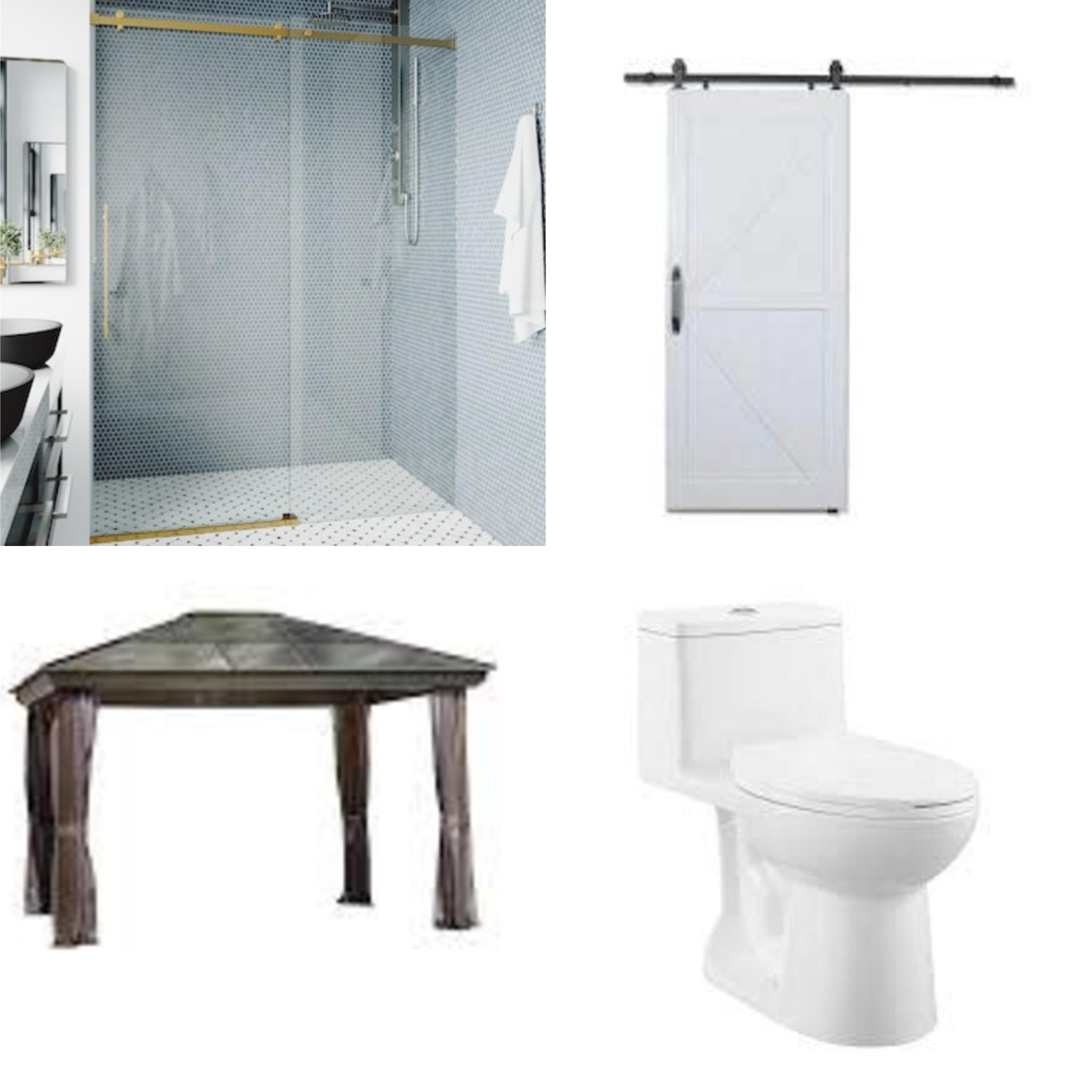 Frameless Shower Door, Gazebo, Barn Door and More!