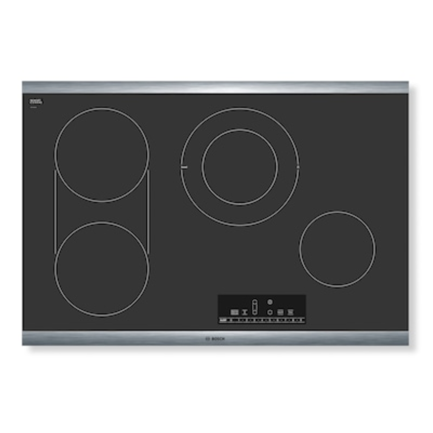 10618 Bosch 30-in Smooth Surface Black Cooktop