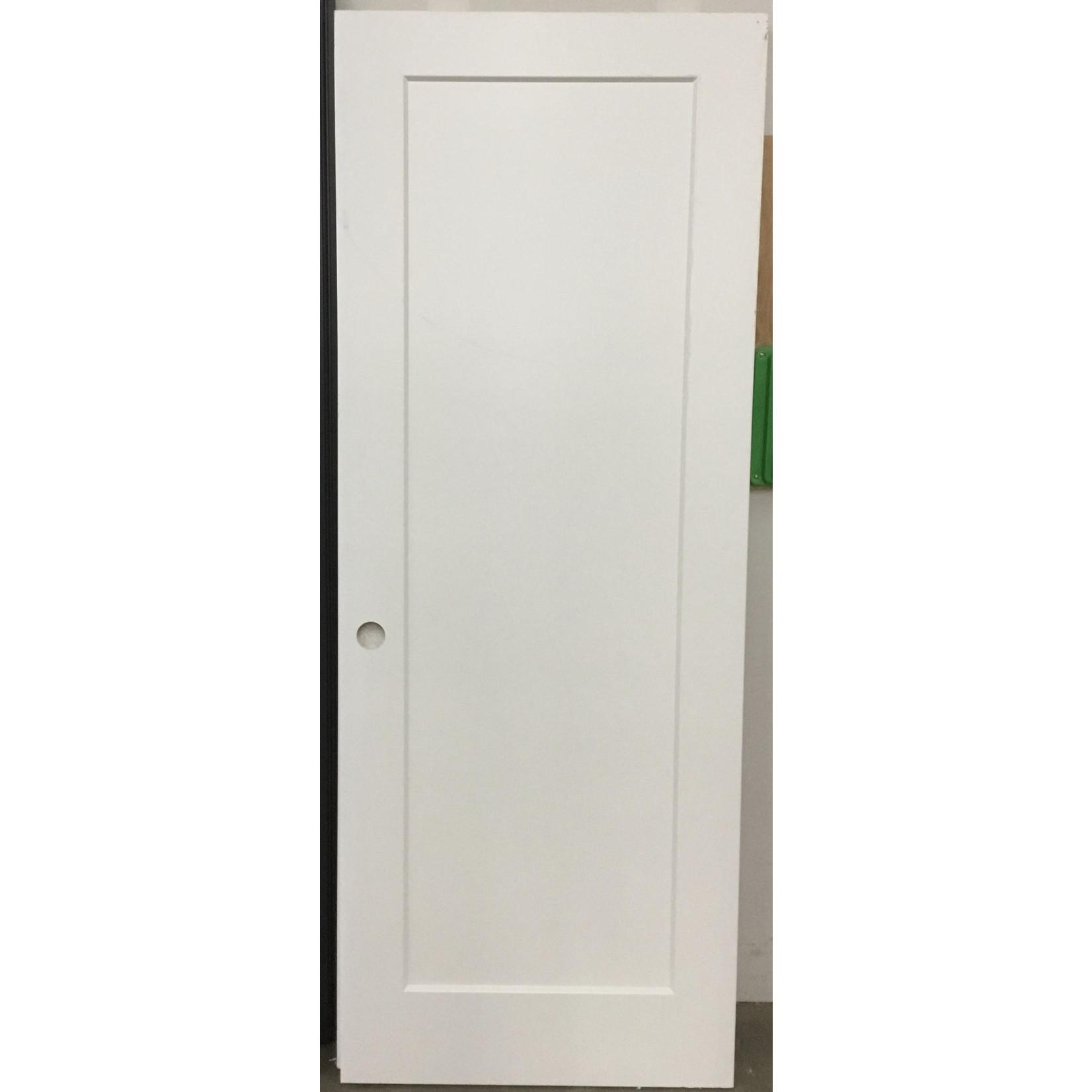 10620 Lightly used Single panel shaker primed door slab