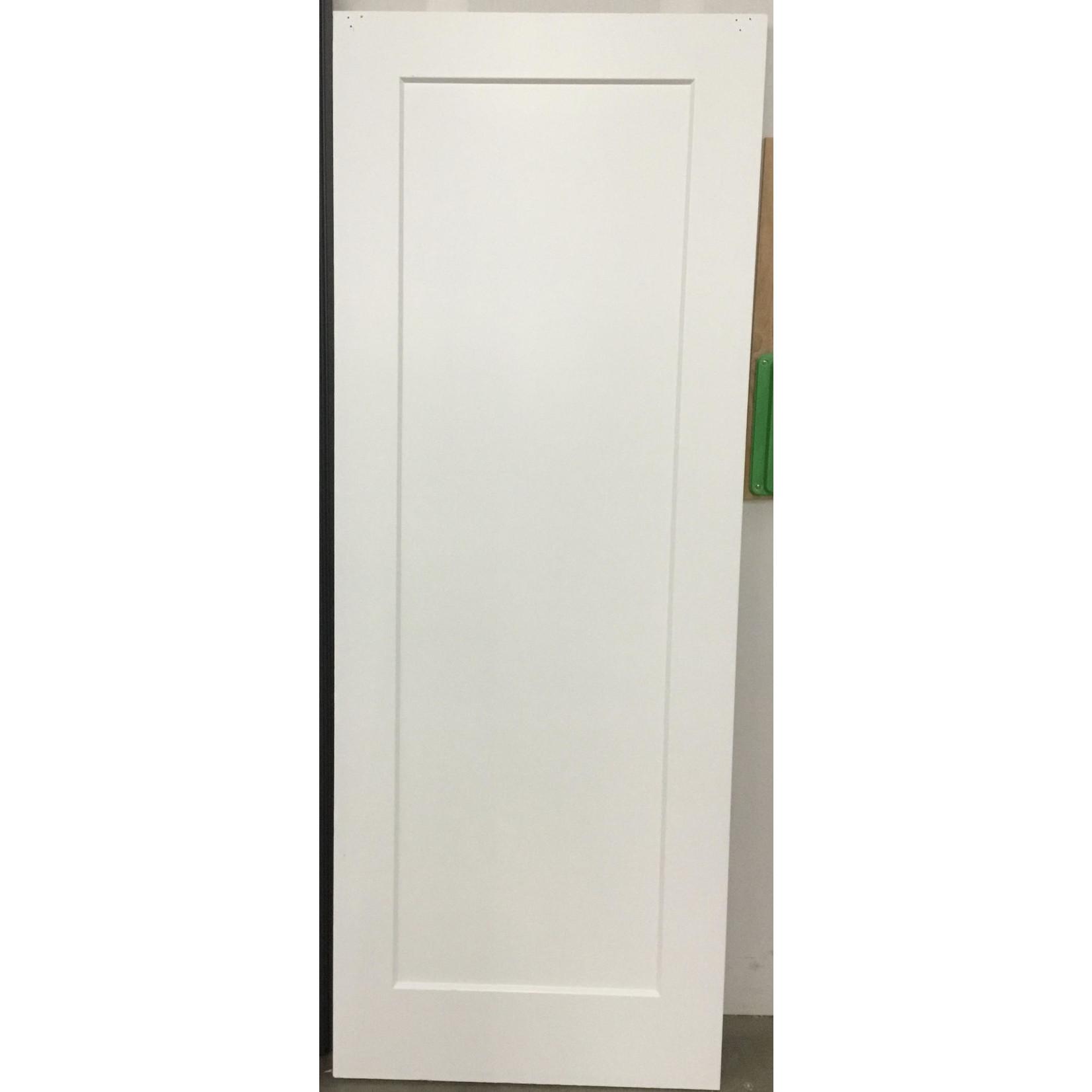 10621 Lightly used Single panel shaker primed door slab