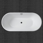 10640 Woodbridge Crowley White Freestanding Tub