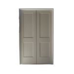 10638 White Primed Pre-Hung 4-Panel French Pantry Door
