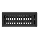 10779 Imperial Montezuma 5-Pack 4-in x 12-in Black Iron Floor Vents