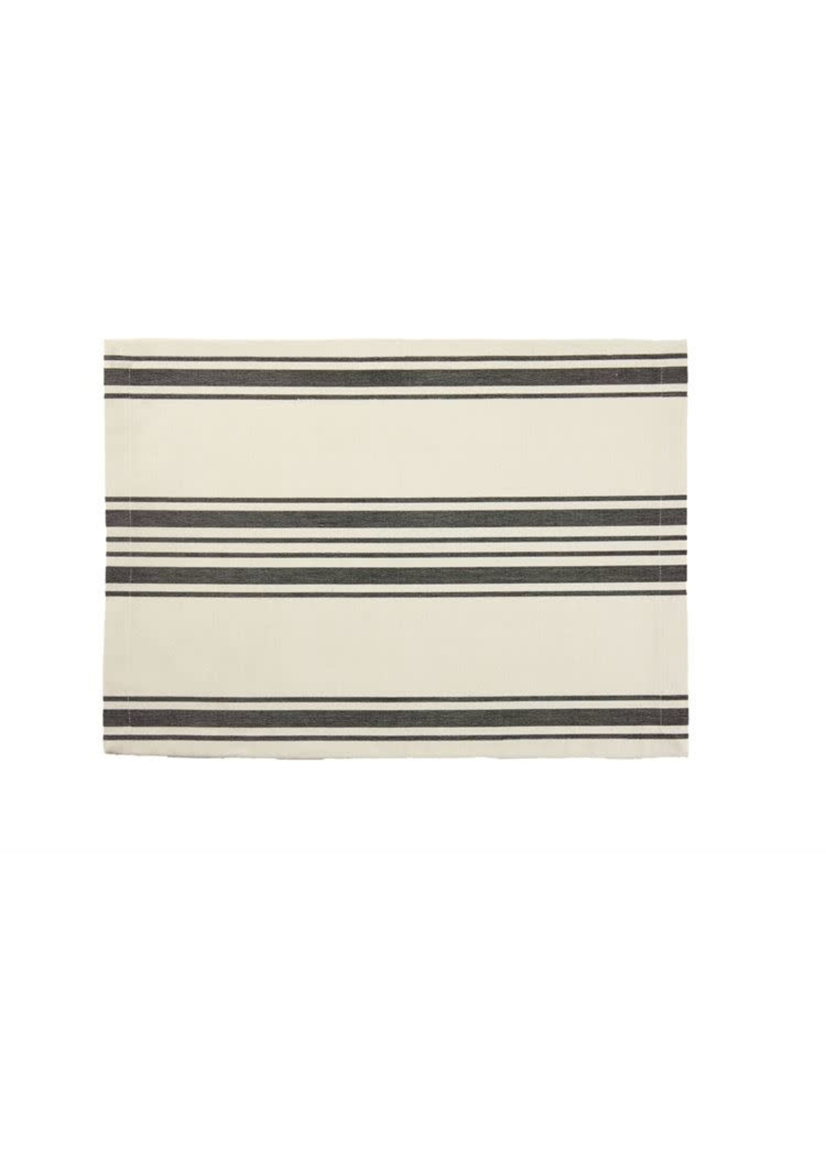 COUNTRY STRIPE PLACEMAT BLACK