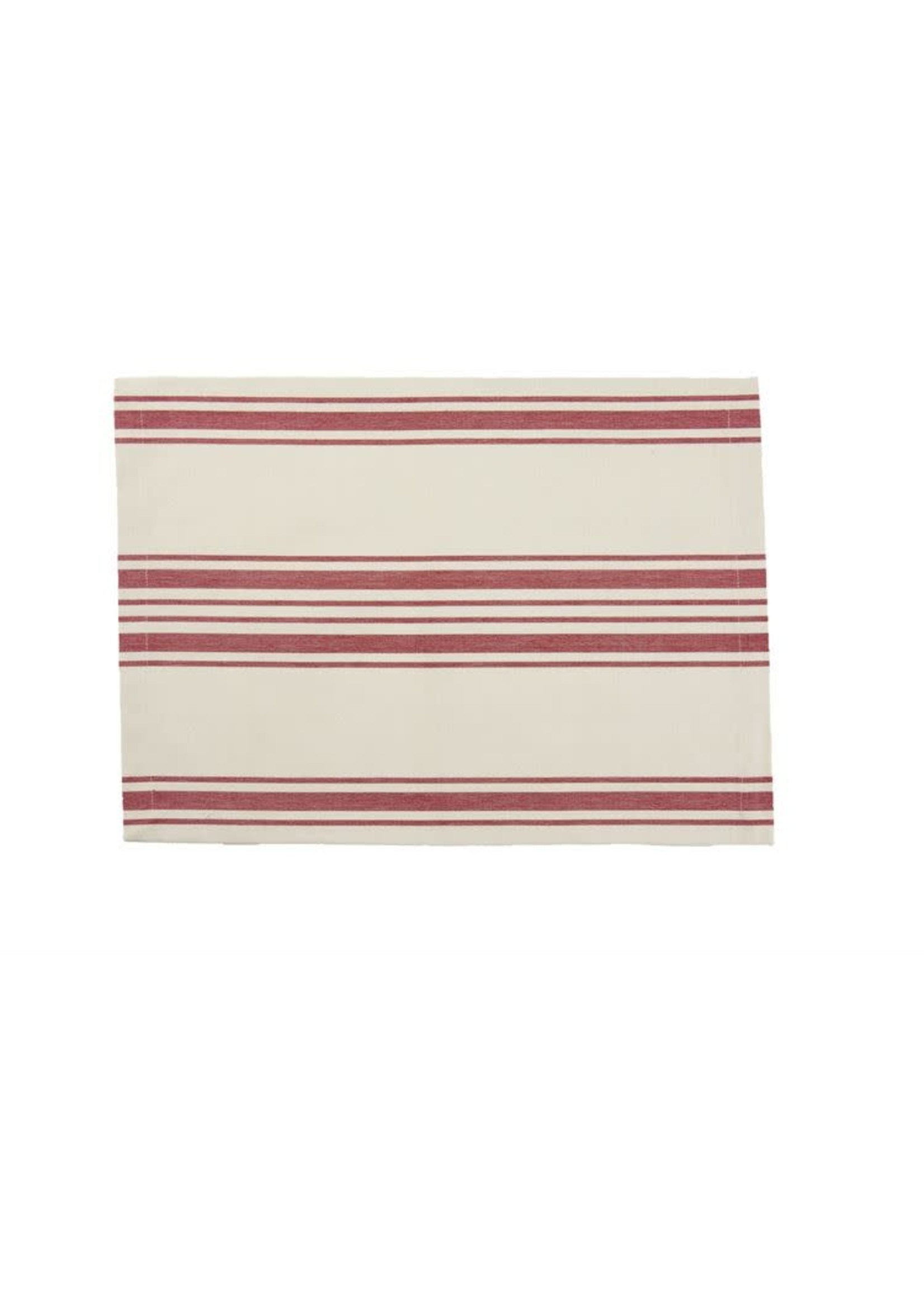 RAILROAD STRIPE RED PLACEMAT