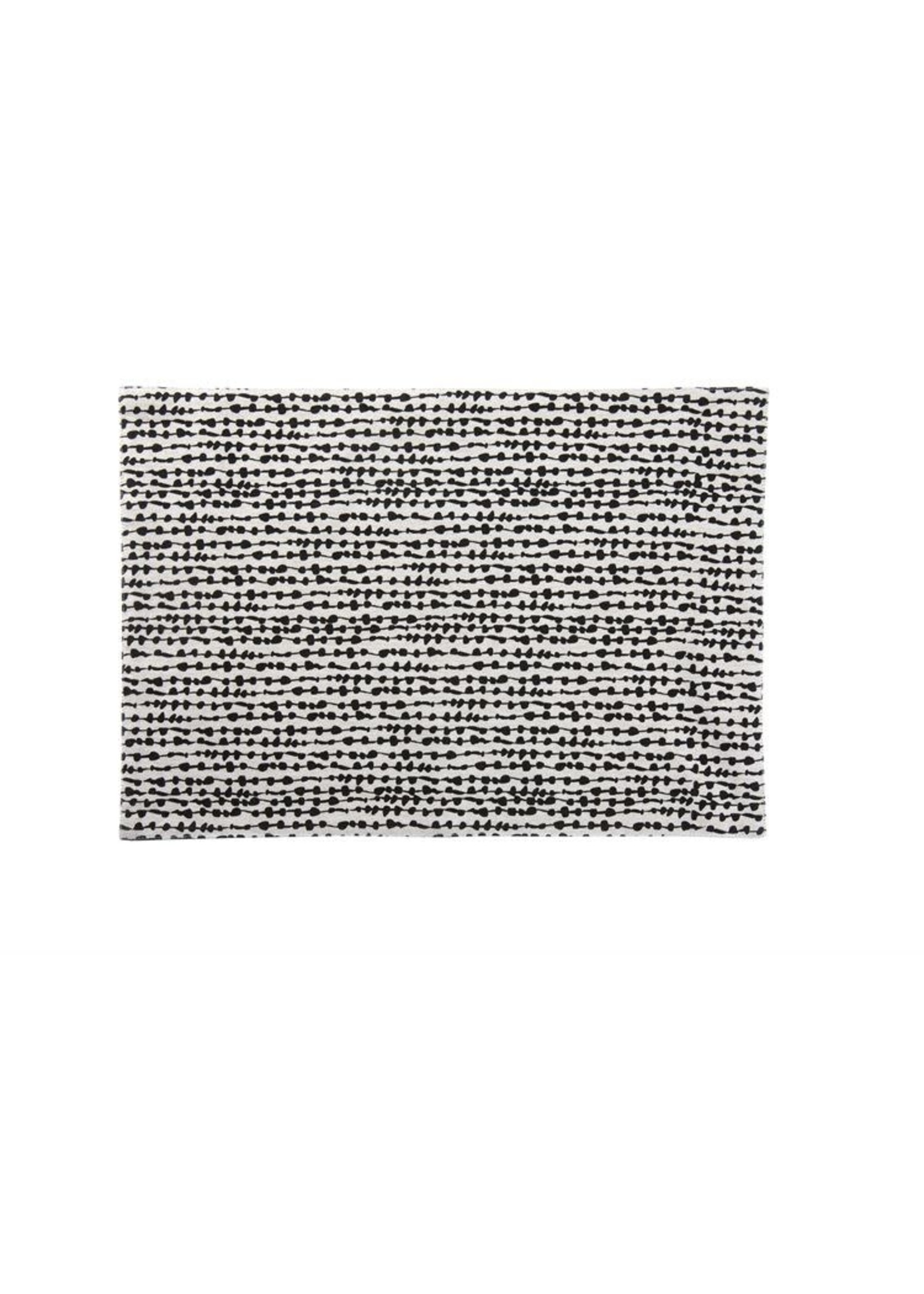 STRING OF BEADS BLACK PLACEMAT