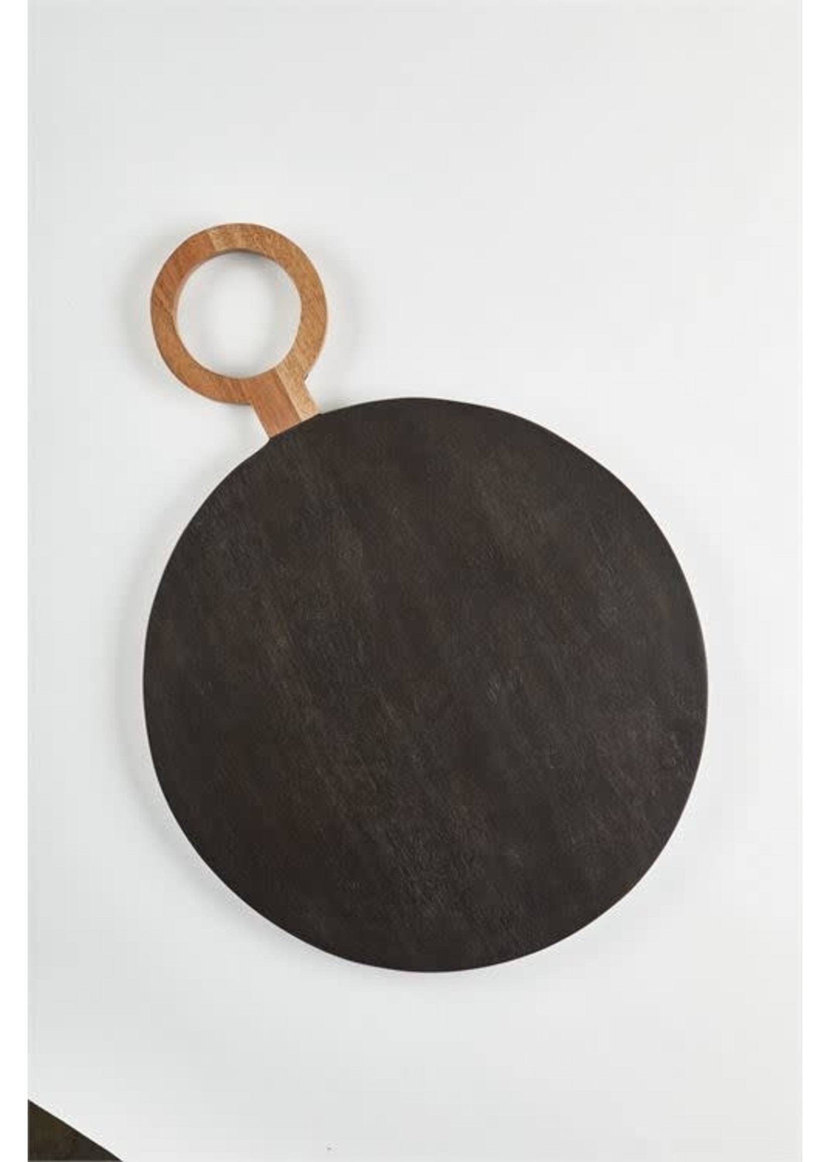 TWO TONE ROUND WOOD BOARD