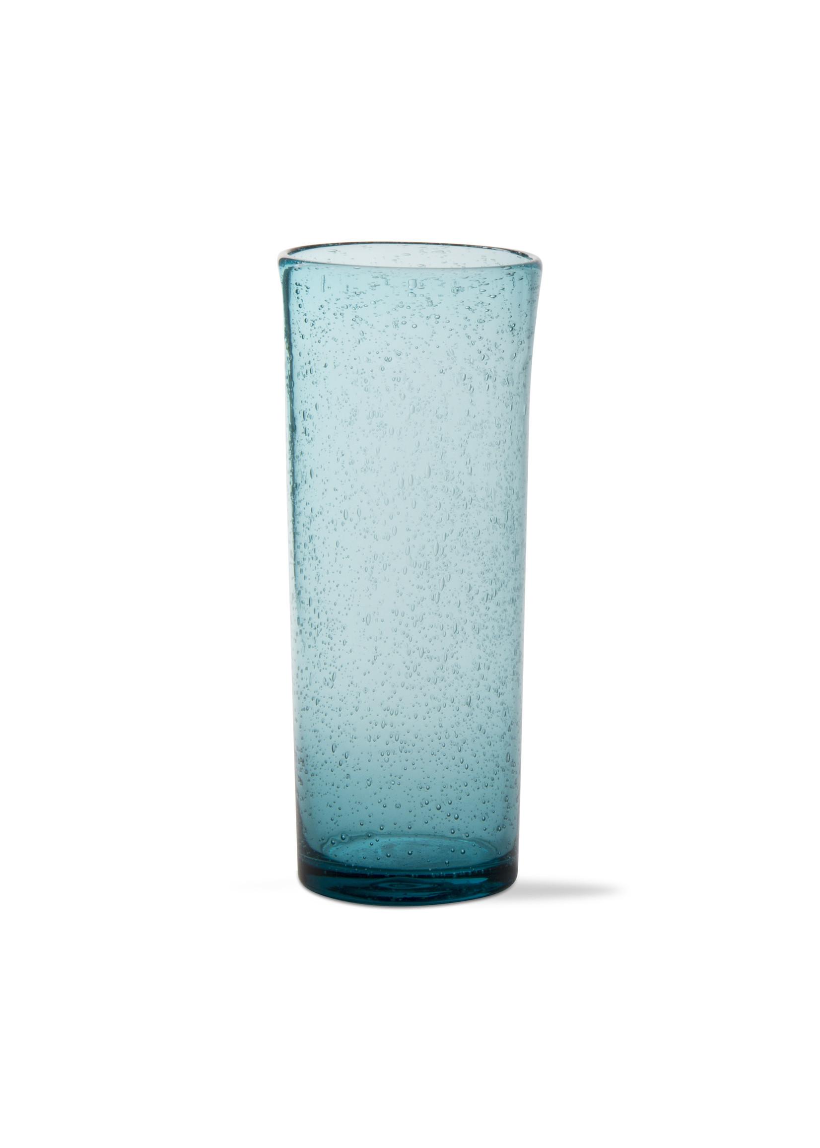 BUBBLE GLASS TALL BLOODY MARY AQUA GLASS