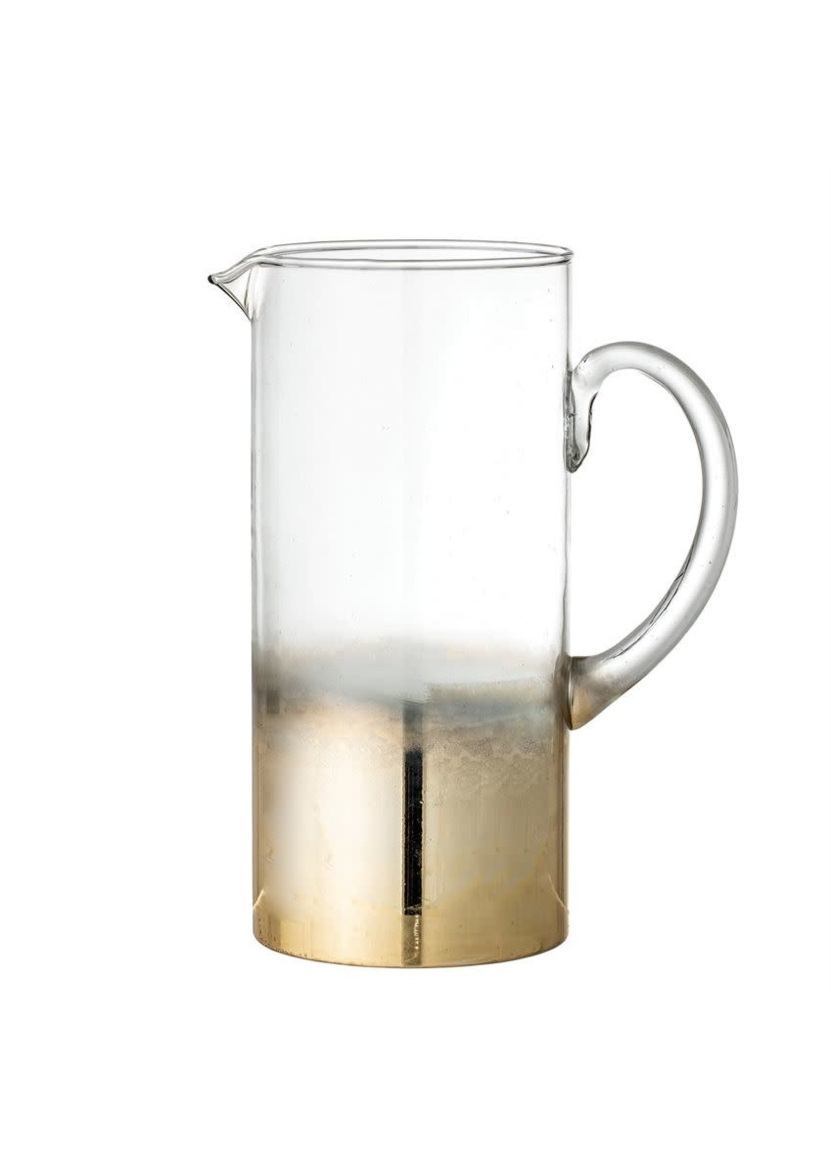 GLASS PITCHER W/ GOLD OMBRE FINISH