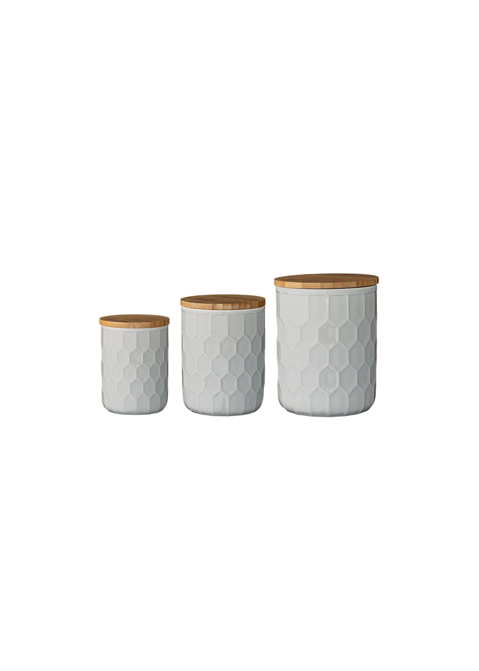 STONEWARE CANISTERS S/3