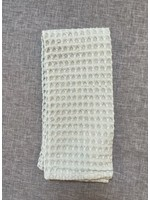 WAFFLE WEAVE LIGHT GREEN DISH TOWEL