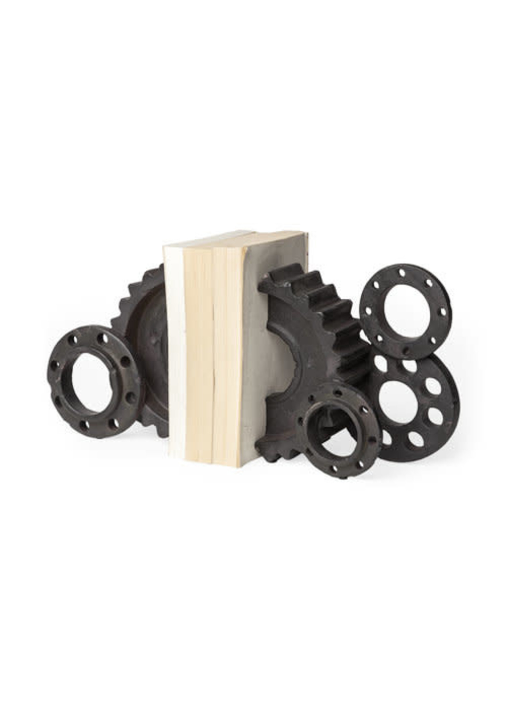 S/2 GEAR BOOKENDS