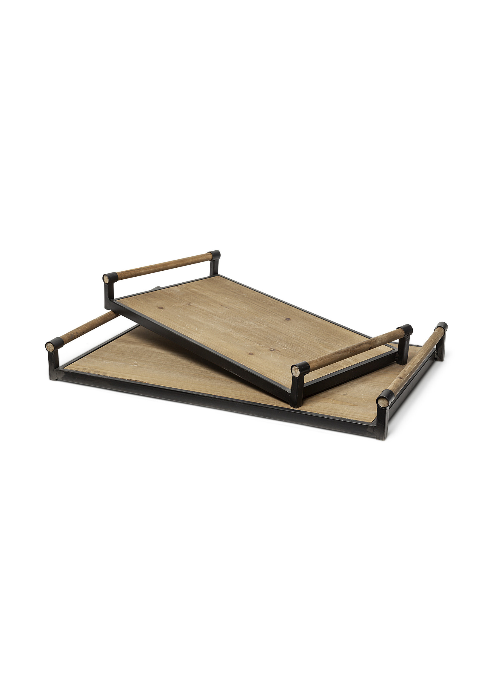 S/2 BROWN TRAYS