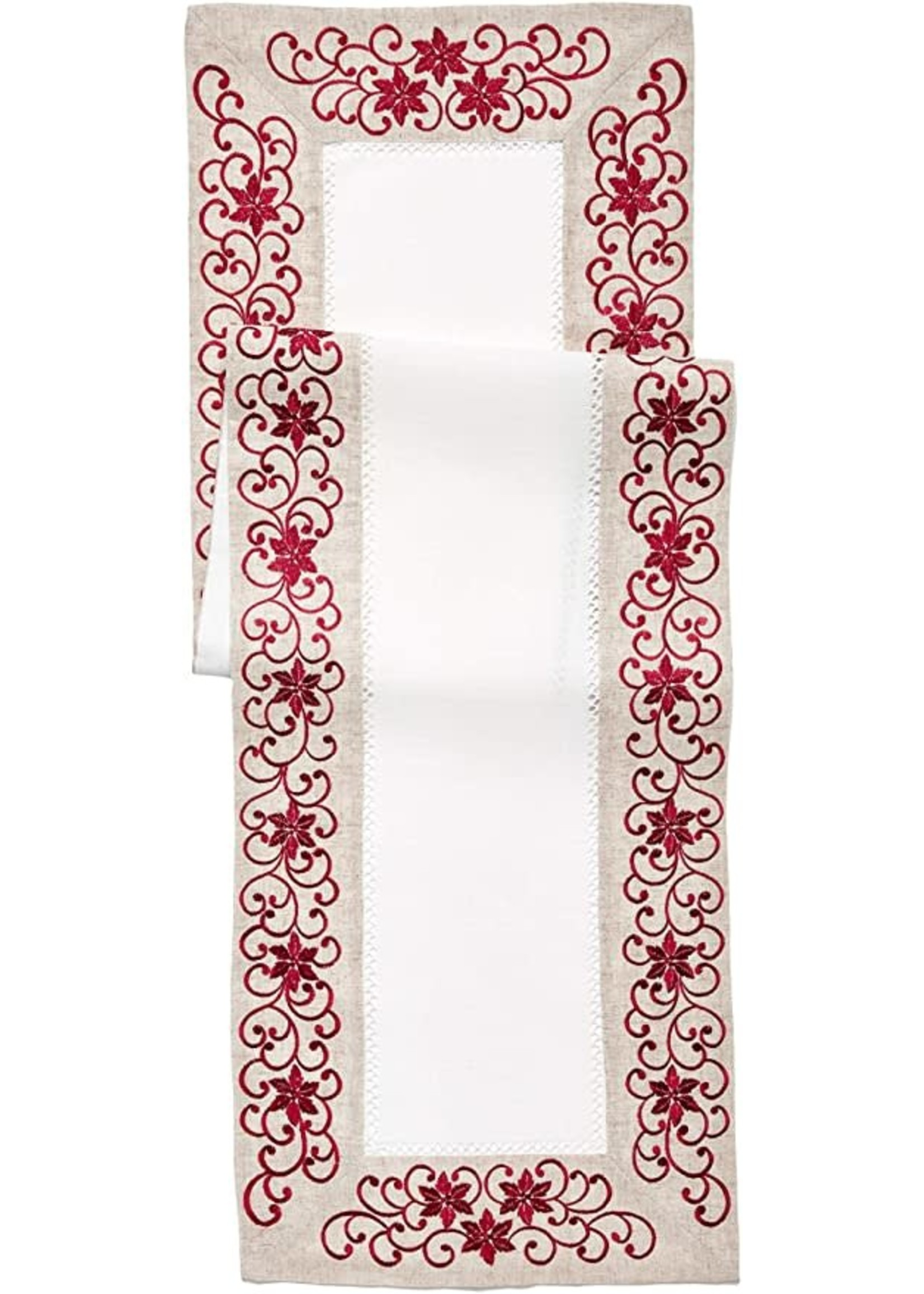 EMBROIDERED AND CUTWORK RUNNER 18X72 OBLONG