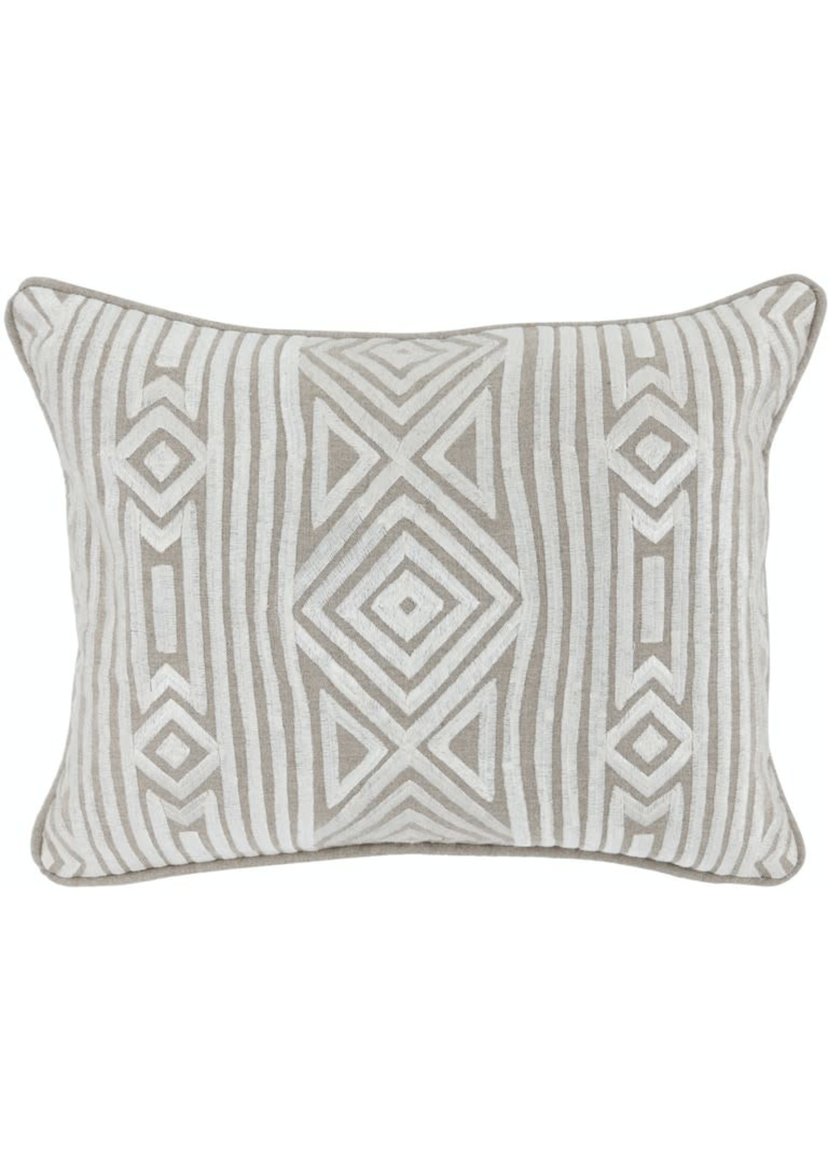 IN RALEIGH NATURAL/IVORY 12X16 PILLOW