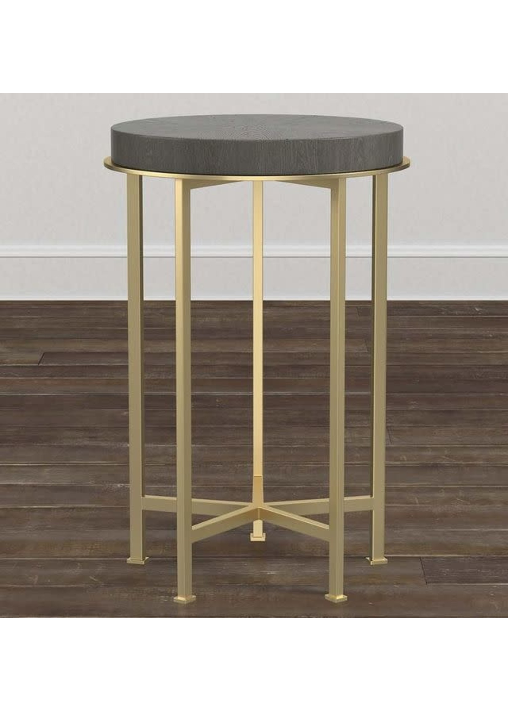 """16"""" AXEL ROUND SIDE TABLE BROWN"""