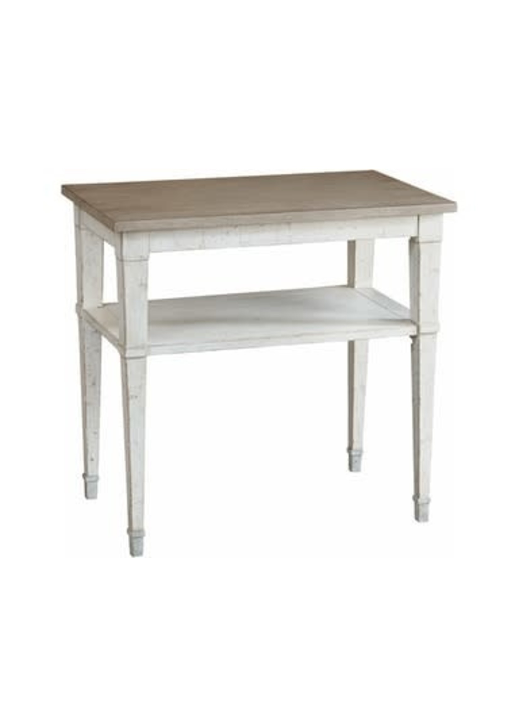 BELLA TWO TONE CHAIRSIDE TABLE
