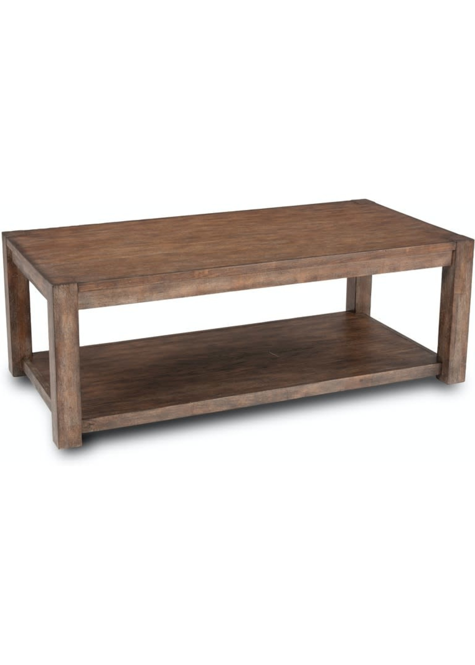 BOULDER RECTANGULAR COFFEE TABLE W/ CASTERS