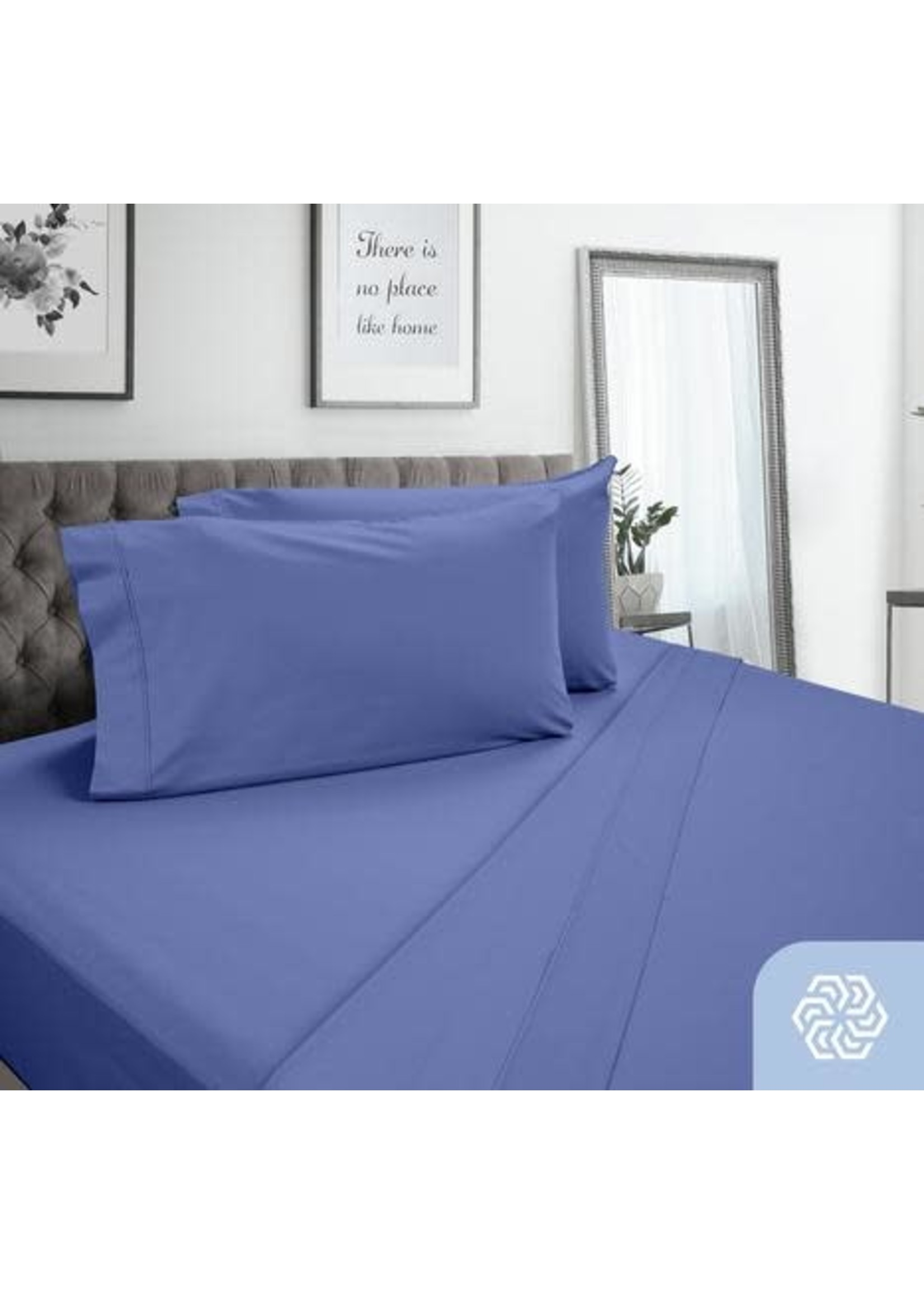 QUEEN , PIMA COTTON SHEETS-BLUE