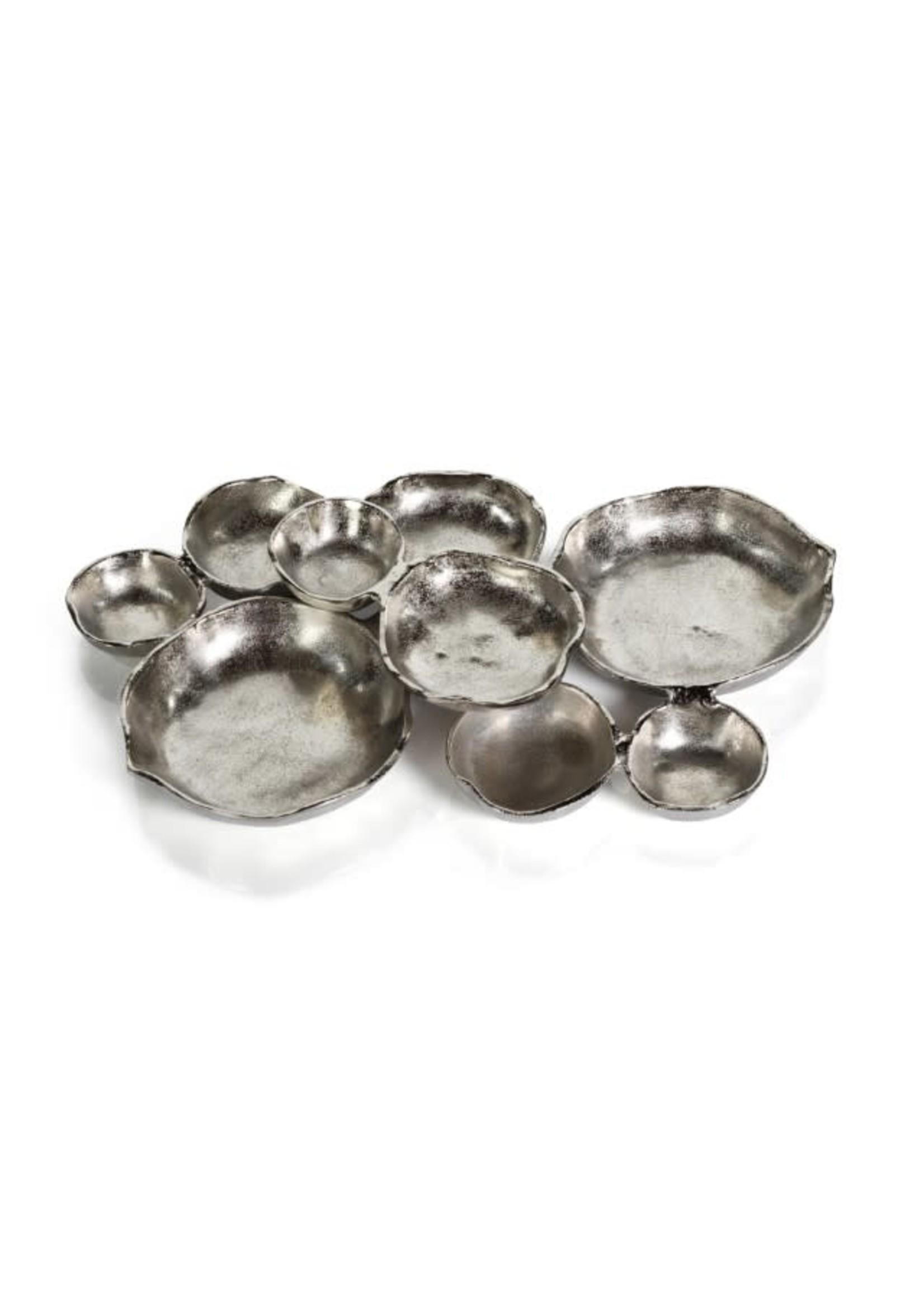 Cluster of Nine Serving Bowls- Nickel