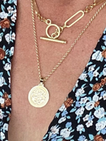 """Ali's Pebbies & Gems Gold Fill Coin Necklace   20"""""""