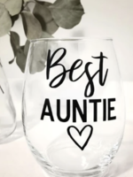 Jemdesigns Stemless Wine Glass | Best Auntie