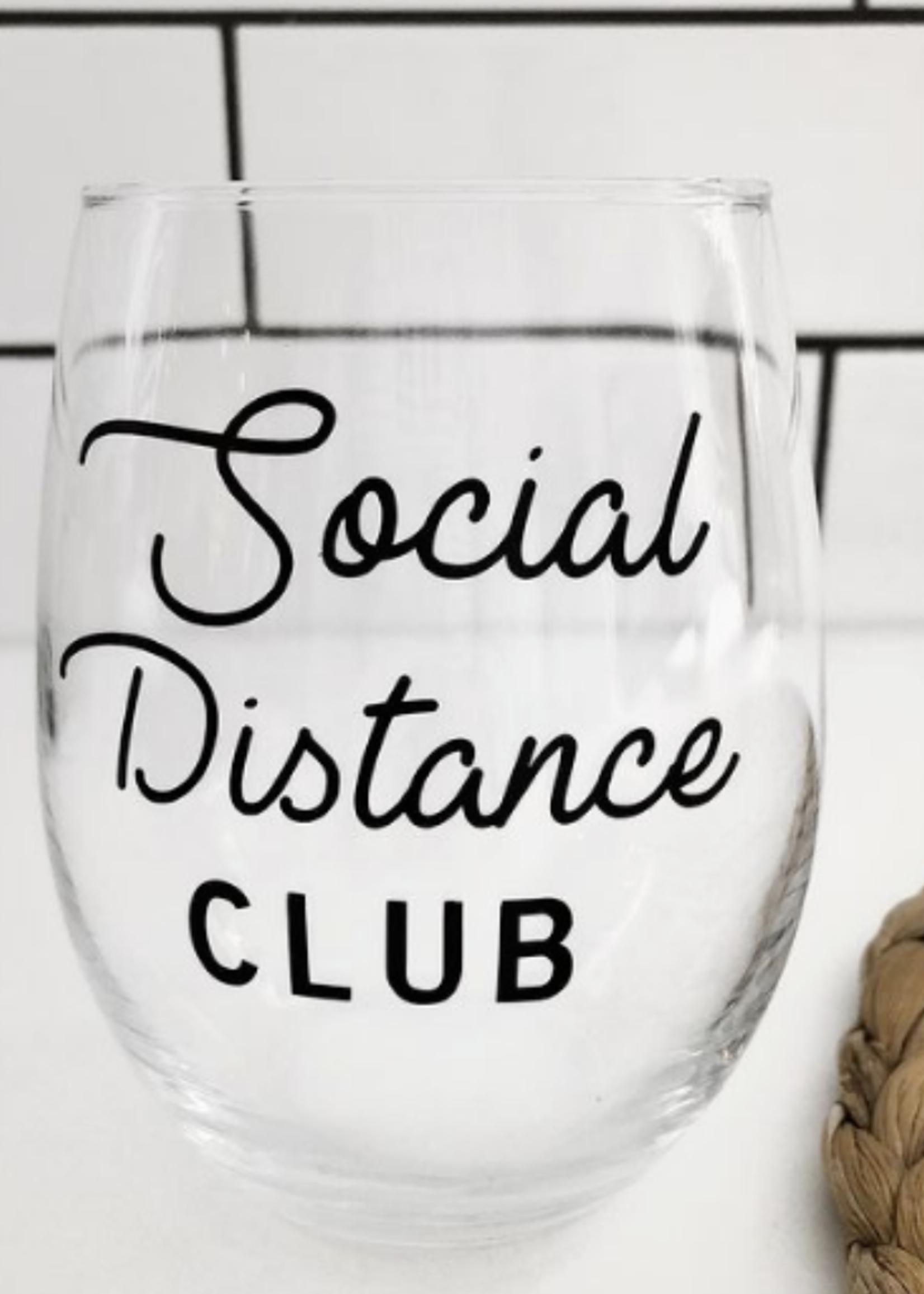 Jemdesigns Stemless Wine Glass   Social Distance Club