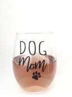 Jemdesigns Stemless Wine Glass | Dog Mom