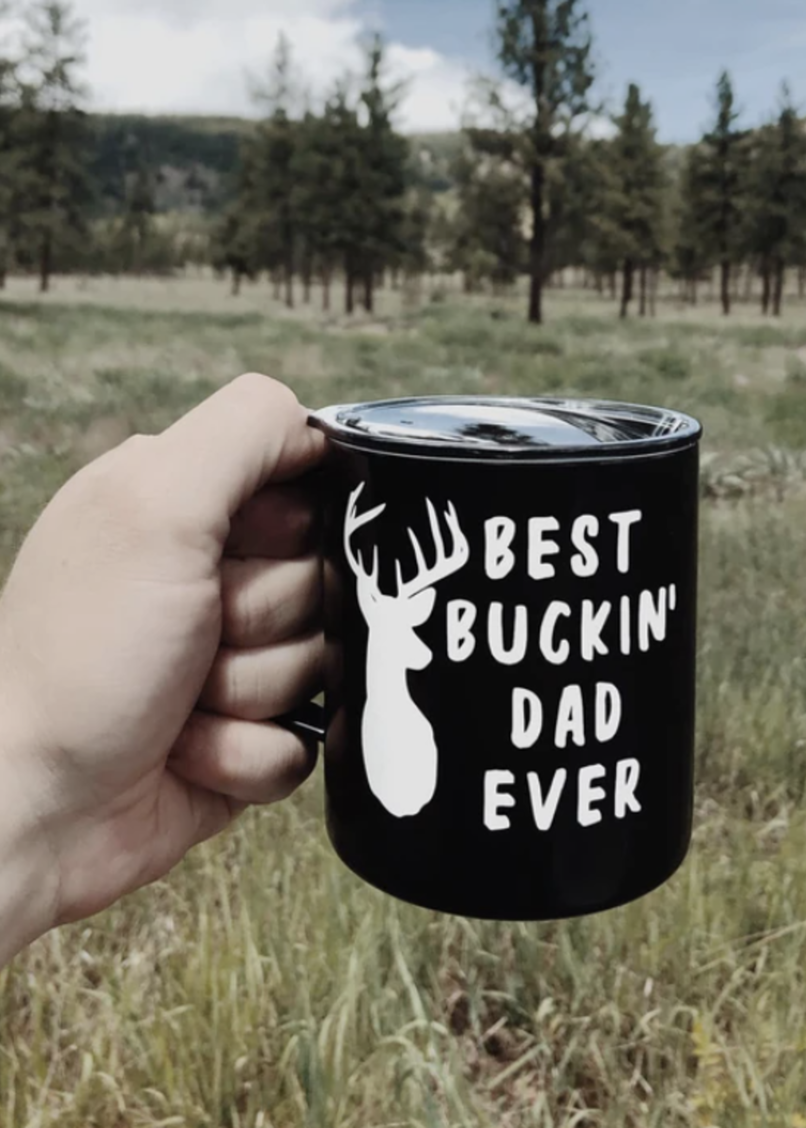 Jemdesigns Insulated Mug | Best Buckin' Dad | Black
