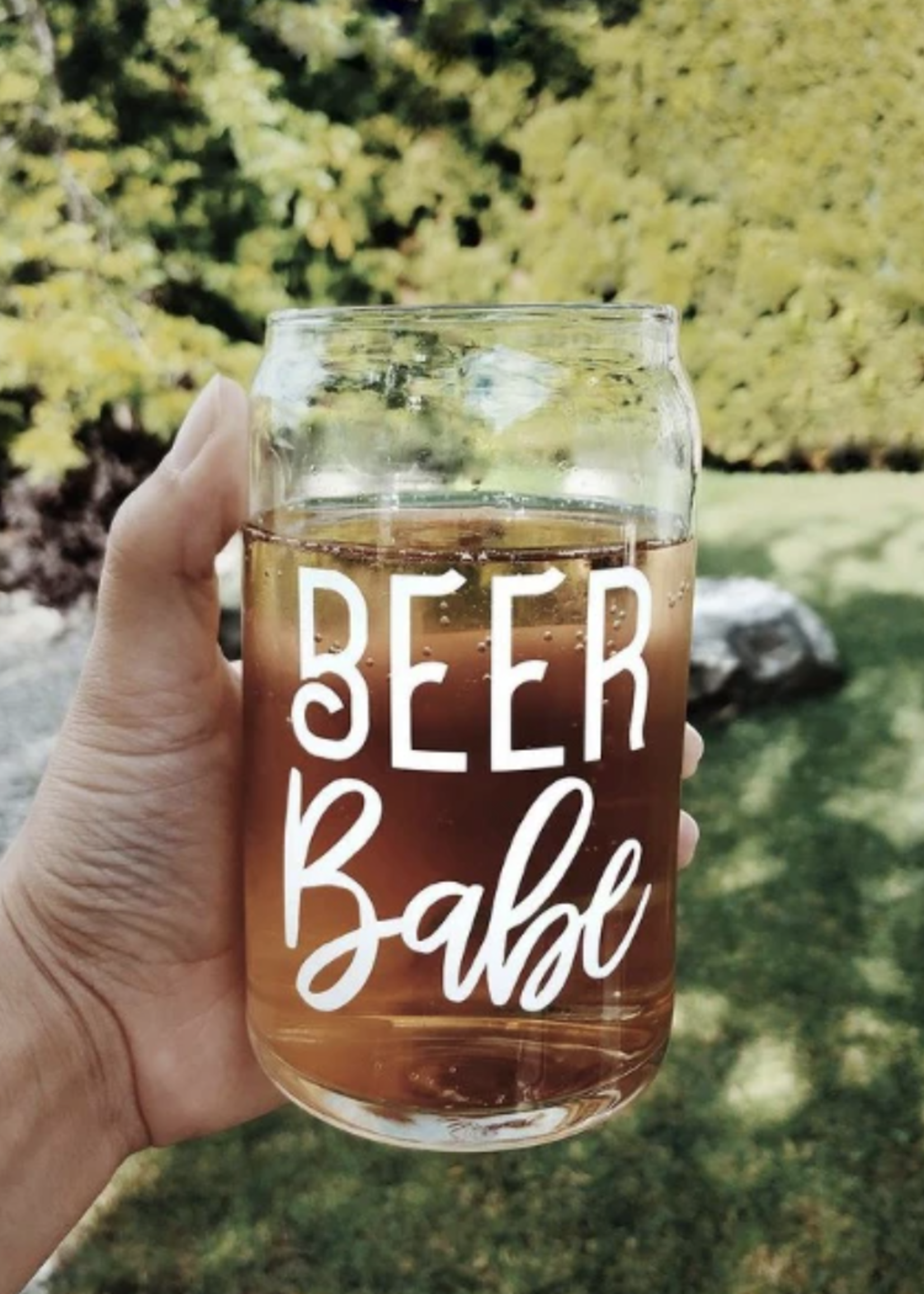 Jemdesigns Beer Babe Beer Glass