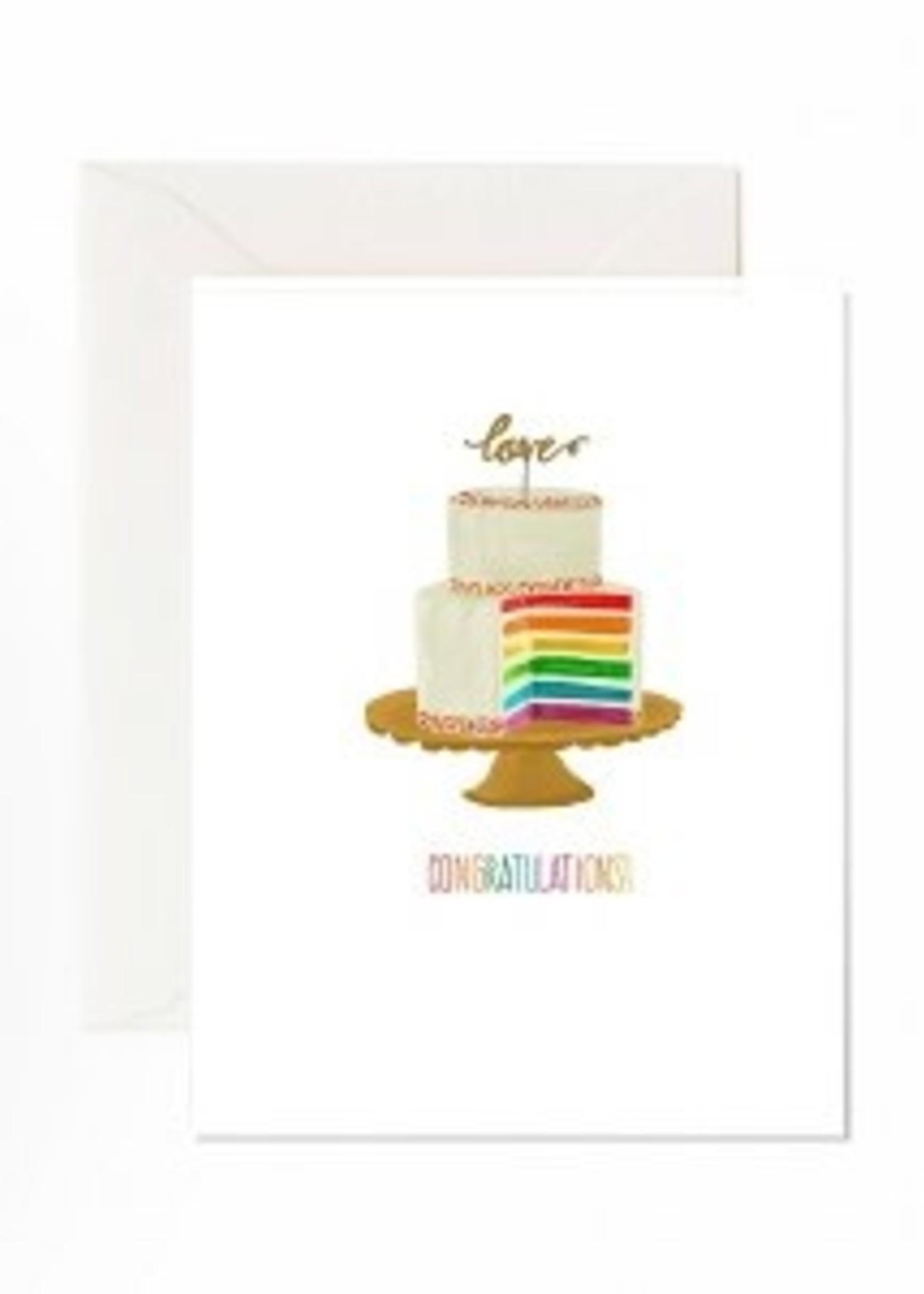 Jaybee Design Rainbow Cake Congratulations