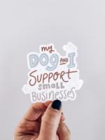 Modern Companion My Dog and I Support Sticker