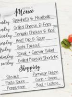 Love Designs Weekly Meal Planner