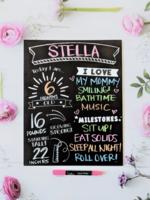 Love Designs Milestone Monthly/Birthday Sign