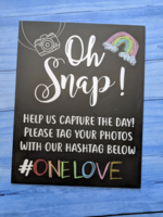 Love Designs Hashtag Reusable Sign