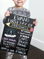 Love Designs First/Last Day School Sign   Single Sided