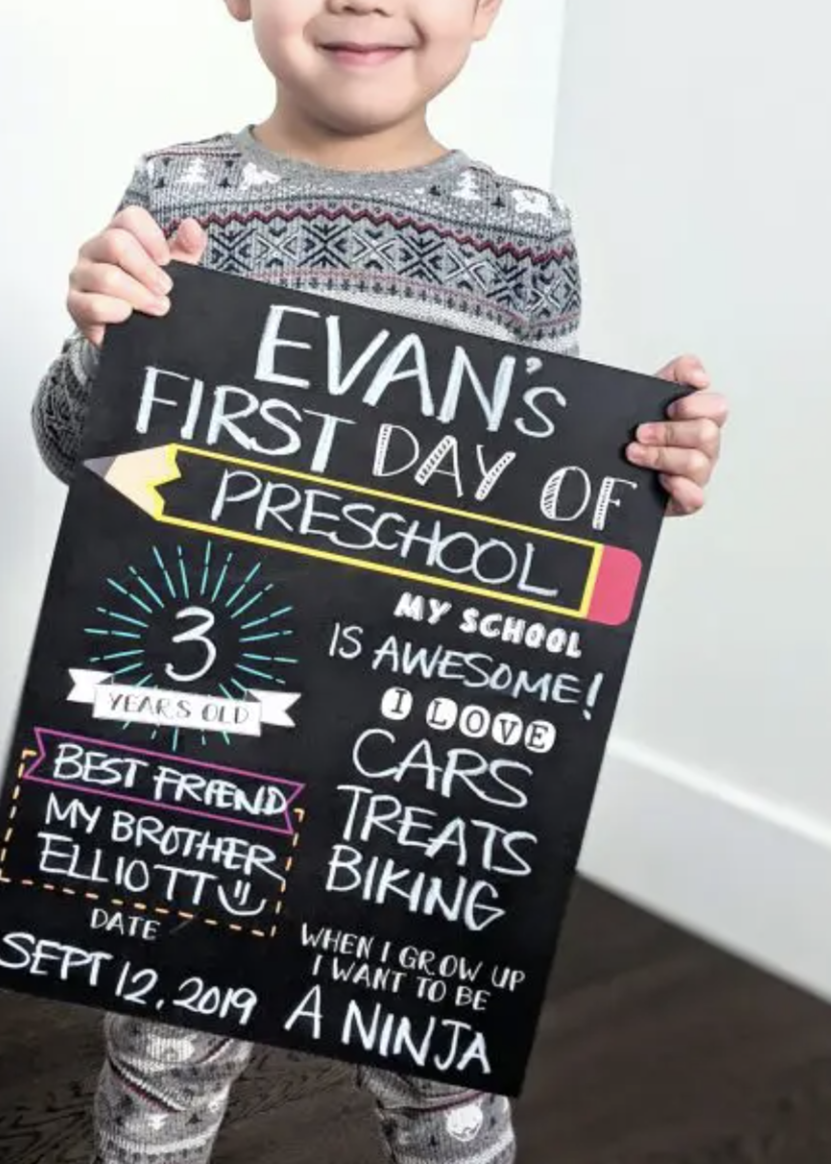 Love Designs First/Last Day School Sign | Single Sided